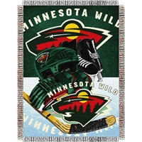 "Minnesota Wild NHL Woven Tapestry Throw Blanket (48x60"")"""