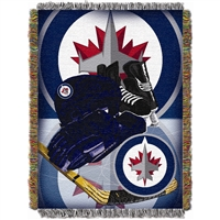 Winnipeg Jets NHL Woven Tapestry Throw (Home Ice Advantage) (48x60)