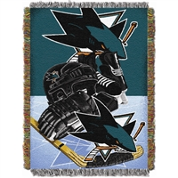"San Jose Sharks NHL Woven Tapestry Throw (Home Ice Advantage) (48x60"")"""