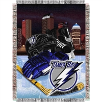 "Tampa Bay Lightning NHL Woven Tapestry Throw (Home Ice Advantage) (48x60"")"""
