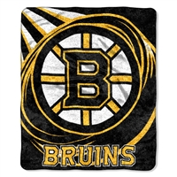 "Boston Bruins NHL Sherpa Throw (Puck Series) (50x60"")"""
