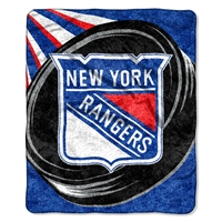 "New York Rangers NHL Sherpa Throw (Puck Series) (50x60"")"""