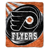 "Philadelphia Flyers NHL Sherpa Throw (Puck Series) (50x60"")"""