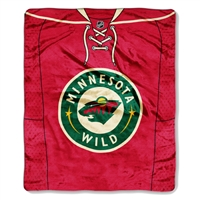 "Minnesota Wild NHL Royal Plush Raschel Blanket (Jersey Series) (50x60"")"""