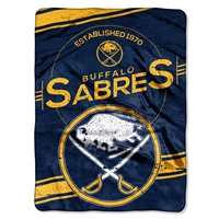 Buffalo Sabres NHL Royal Plush Raschel Blanket (Stamp Series) (60x80)
