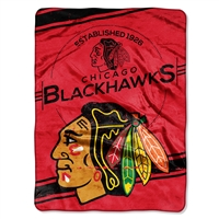 Chicago Blackhawks NHL Royal Plush Raschel Blanket (Stamp Series) (60x80)