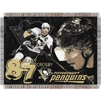 "Sidney Crosby #87 Pittsburgh Penguins NHL Woven Tapestry Throw (48x60"")"""