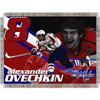 "Alexander Ovechkin #8 Washington Capitals NHL Woven Tapestry Throw (48x60"")"""