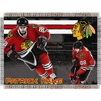 "Patrick Kane #88 Chicago Blackhawks NHL Woven Tapestry Throw (48x60"")"""