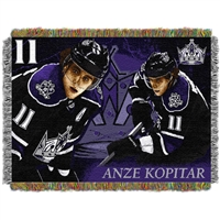 "Anze Kopitar - Los Angeles Kings NHL Woven Tapestry Throw (48x60"")"""
