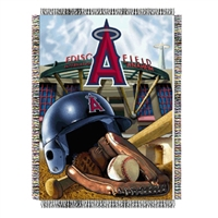 "Anaheim Angels MLB Woven Tapestry Throw (Home Field Advantage) (48x60"")"""