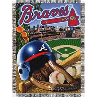 "Atlanta Braves MLB Woven Tapestry Throw (Home Field Advantage) (48x60"")"""
