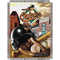 "Baltimore Orioles MLB Woven Tapestry Throw (Home Field Advantage) (48x60"")"""