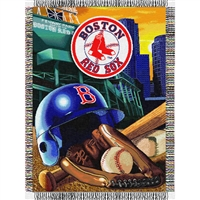 "Boston Red Sox MLB Woven Tapestry Throw (Home Field Advantage) (48x60"")"""