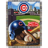 "Chicago Cubs MLB Woven Tapestry Throw (Home Field Advantage) (48x60"")"""