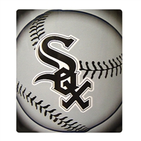 "Chicago White Sox Light Weight Fleece MLB Blanket (Flashball Series) (50x60"")"""