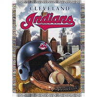 "Cleveland Indians MLB Woven Tapestry Throw (Home Field Advantage) (48x60"")"""