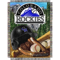 "Colorado Rockies MLB Woven Tapestry Throw (Home Field Advantage) (48x60"")"""