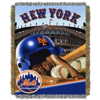 "New York Mets MLB Woven Tapestry Throw (Home Field Advantage) (48x60"")"""