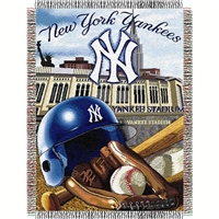 "New York Yankees MLB Woven Tapestry Throw (Home Field Advantage) (48x60"")"""