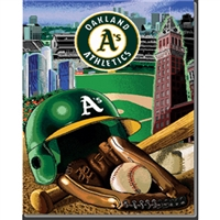 "Oakland Athletics MLB Woven Tapestry Throw (Home Field Advantage) (48x60"")"""