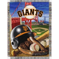"San Francisco Giants MLB Woven Tapestry Throw (Home Field Advantage) (48x60"")"""