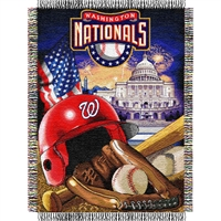"Washington Nationals MLB Woven Tapestry Throw (Home Field Advantage) (48x60"")"""