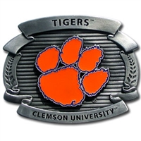 Clemson Tigers Oversized Belt Buckle