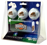 Oregon State Beavers Slider Hat Clip 3 Ball Gift Pack