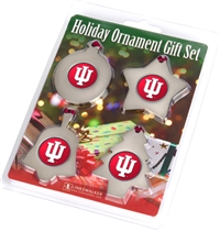 Indiana Hoosiers Holiday Ornament 4 Pack