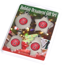 North Carolina State Wolfpack Holiday Ornament 4 Pack