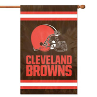 "The Party Animal  44"" x 28"" NFL Cleveland Browns Applique Banner Flag"