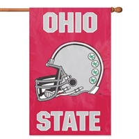 Ohio State Buckeyes NCAA Applique Banner Flag (44x28) Helmet