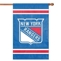 New York Rangers NHL Appliqué Banner Flag