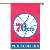 Philadelphia 76ers NBA Appliqué Banner Flag