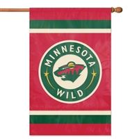 Minnesota Wild NHL Appliqué Banner Flag