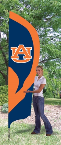 Auburn Tigers Tall Team Flag with Pole