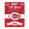 Cincinnati Reds MLB Vintage Metal Sign (11.5in x 14.5in)