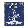 Los Angeles Dodgers MLB Vintage Metal Sign (11.5in x 14.5in)