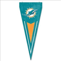 Miami Dolphins NFL Vertical Yard Pennant