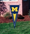 "Michigan Wolverines 34"" x 14"" Collegiate Yard Pennant"