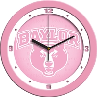 "Baylor Bears 12"" Wall Clock - Pink"