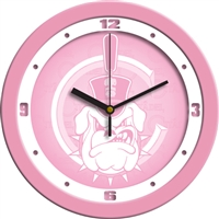 "Citadel Bulldogs 12"" Wall Clock - Pink"