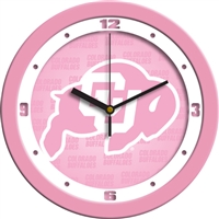"Colorado Buffaloes 12"" Wall Clock - Pink"