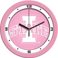 "Iowa State Cyclones 12"" Wall Clock - Pink"
