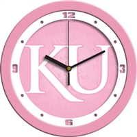 "Kansas Jayhawks 12"" Wall Clock - Pink"