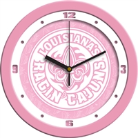"Louisiana Lafayette Ragin' Cajuns 12"" Wall Clock - Pink"