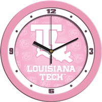 "Louisiana Tech Bulldogs 12"" Wall Clock - Pink"
