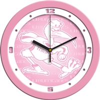 "Miami Hurricanes 12"" Wall Clock - Pink"