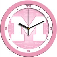 "Michigan Wolverines 12"" Wall Clock - Pink"
